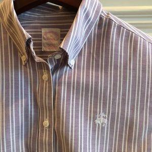 Brooks Brothers Ladies Preppy Striped Oxford Shirt